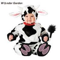 Wonder Garden niño pequeño tiernos niños pequeños vaca disfraz de Halloween de Animal Purim disfraz de vacaciones