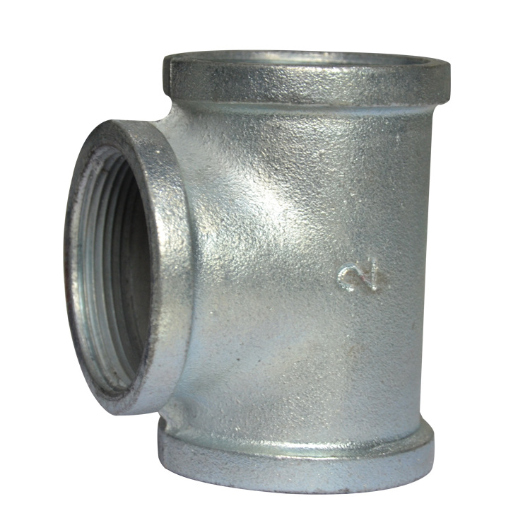 Manufacturers Direct Selling Firefighting Galvanized Enterprise Standard T-connector Malleable Iron Galvanized Threaded Pipe Fit