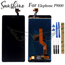 Tested Touch LCD Display For Elephone P9000 LCD Display With Touch Screen Assembly elephone m2 lcd screen with frame 100