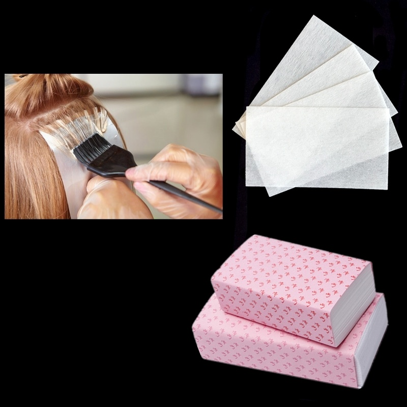 100pcs/pack Pro Salon Hair Dye Paper Disposable Separating Stain Dyeing Color Tool Highlight Tissue Hairdresser Salon Tool
