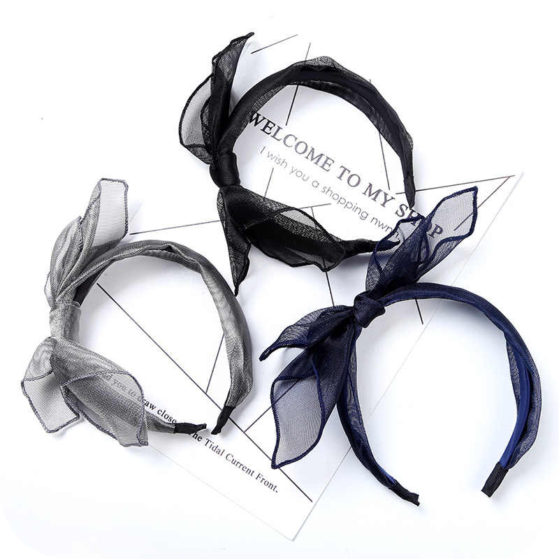 Spun Silk Hair Band Solid Color Knot Hair Accessories Fashion Bow Head Band Exquisite Hair Band Women Temperament Hair jewelry