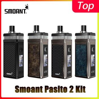 Smoant Pasito II Pod Kit 2500mAh Battery 80W TC Mod With 6ml Pod Cartridge Pasito 2 Kit VS Pasito Rebuildable Kit original ehpro 2 in 1 fusion 150w tc kit max 150w w fusion mod