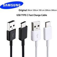 Cabo de dados e carregamento rápido de 100cm/150cm, original, USB 3.1 tipo-C, para Samsung Galaxy A80 A70 A60 A50 A40 A30 S8 S9 Plus S10e Note 8 9