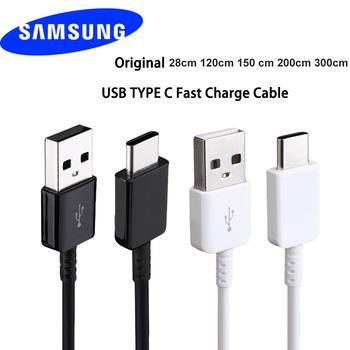 Oryginalny 100 cm 150 cm USB 3 1 TYPE-C szybko łądujący kabel danych do Samsung Galaxy A80 A70 A60 A50 A40 A30 S8 S9 plus S10e uwaga 8 9 tanie i dobre opinie 2 4A USB A Złącze ze stopu