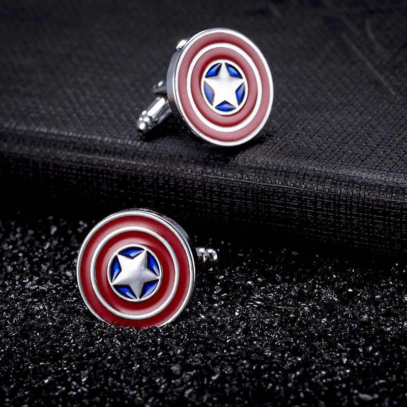 Superhero Kembar Superhero Kembar Avengers Manset Kapten Amerika Thor Tombol Manset untuk Pria