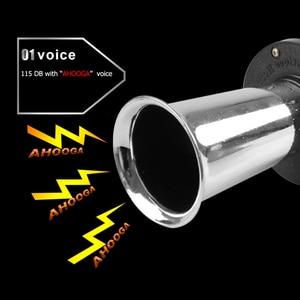 Image 4 - Bocina de aire GRT 12v, claxon de aire clásico cromado/negro/rojo para coche, furgoneta, camión, tren RV, bocina de alarma de barco automático