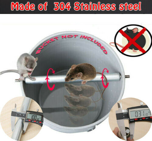 High Quality Reusable Pest Control Stainless Steel Rat Mousetrap Mice Killer Trap Log Grasp Bucket Catcher Spinning Roller