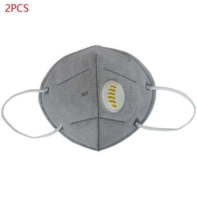 2PCS/Set N95 PM2.5 Respirator Face Mask Anti Flu Prevention Dust Pm 2.5 Filter Breathing Valve Mouth Masks