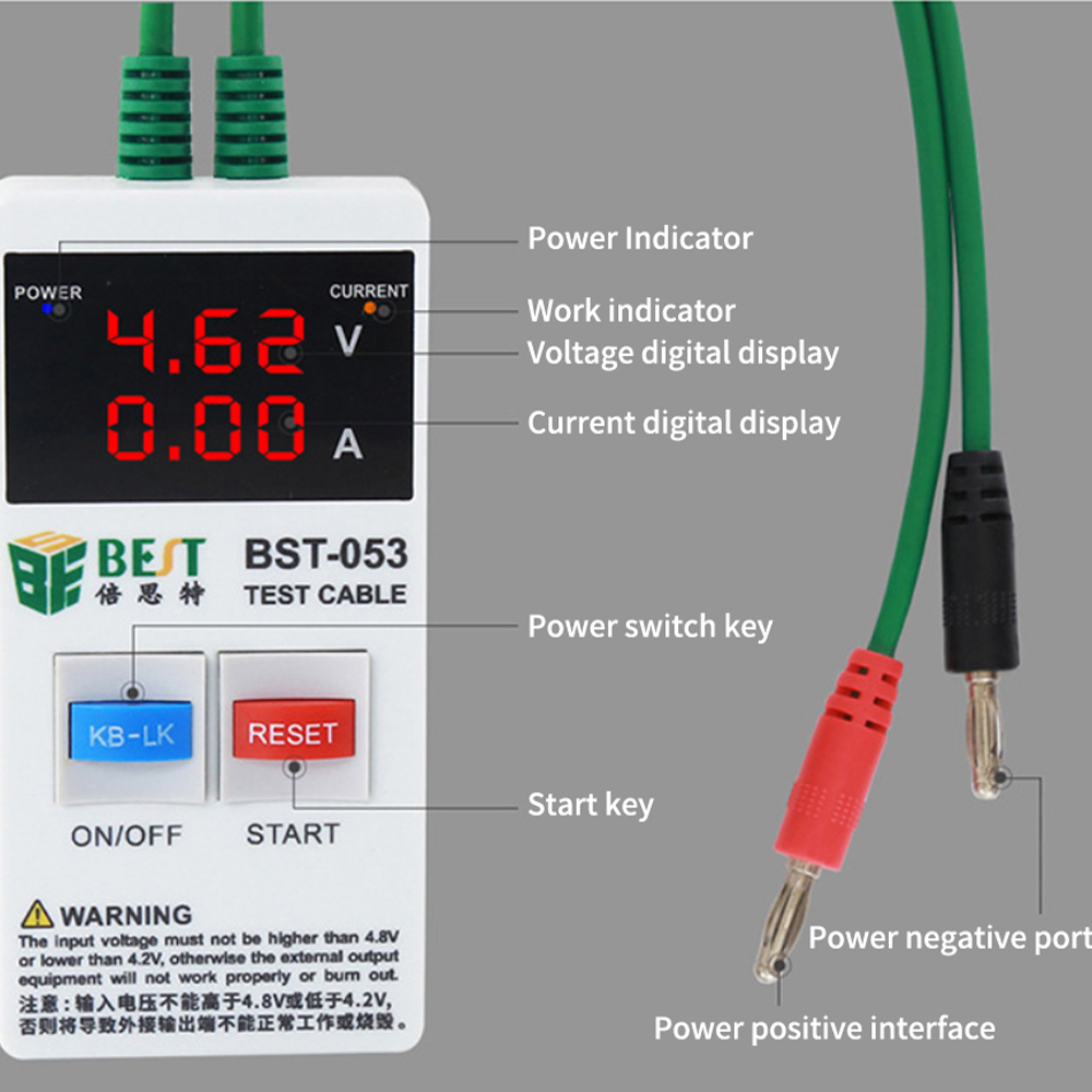 Tools : Fast Current Protection Boot Power Supply Cord Bst-053 Mobile Phone Iph 4-8x Maintenance Dedicated Boot Line 3A