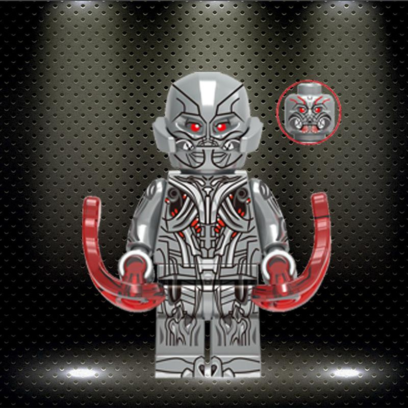 LegoINGlys Super Heroes Iron Man Mark17 Mark45 Uitron Legions Patrio Building Blocks Minifigured Action Toy Children Gift XH1340