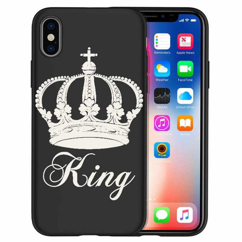 Для iPhone X XR XS Max 5 5S SE 6 6S 7 8 One Plus 5 5T 7 Pro Oneplus 6 6Tphone чехол для телефона Funda Coque Etui king queen DIY