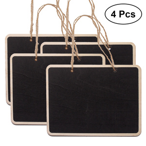 4 PCS Mini Chalkboards Rectangular Hanging Blackboard Double Sided Chalkboard Wedding Party Table Number Place Tag Message Board