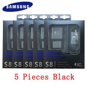 Зарядный кабель Samsung 9 В/1,67 А, кабель Type C 1,2 м для Galaxy A30, A50, A60, S10, S9, S8 Plus, Note 8, 9, оптовая продажа, 5 шт./компл.