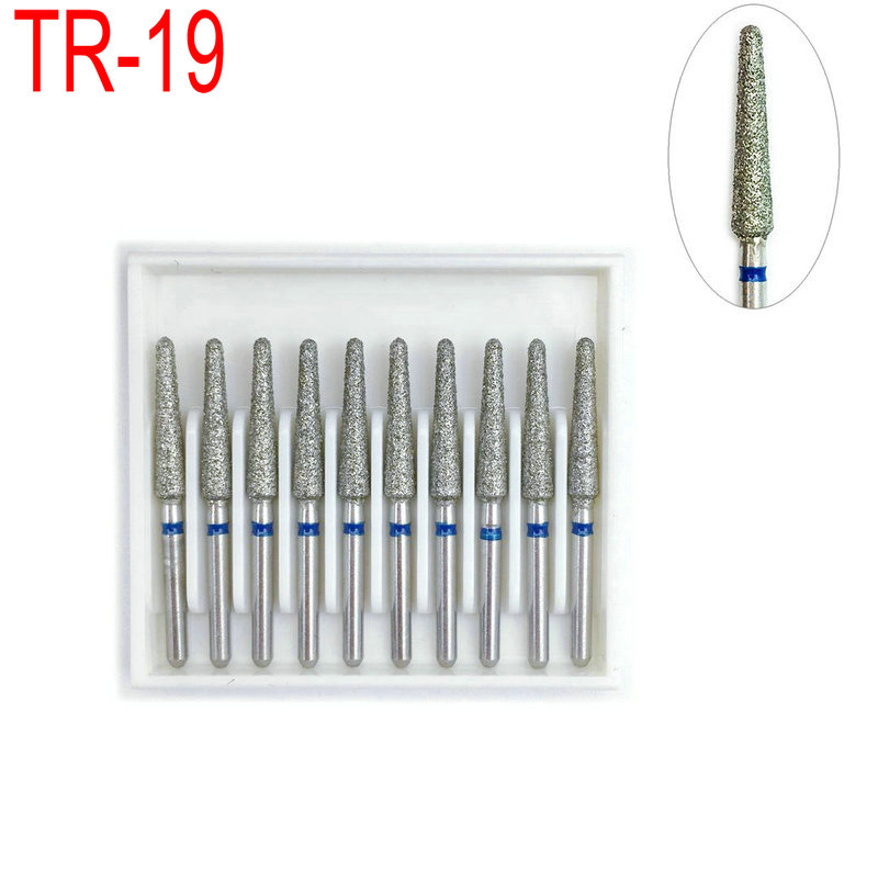 1 Box Dental Diamond Bur Drills For High Speed Handpiecess Dentist Teeh Whitening Polisher Dentistry Material TR-19