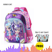 Girls primary school Trolley Backpack with Wheels Suitcase Luggage Suitcase for kids Children Rolling Travel Wheeled Bag 2 6 wheels boys trolley backpack wheeled school bag children travel luggage suitcase on wheels kids rolling book bag detachable