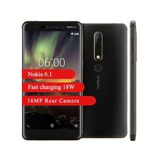 Nokia 6.1 4G Lte Smartphone 4Gb 64Gb Snapdragon 630 Octa Core 5.5 Inch Full-HD16MP 8MP 3000 Mah android 8.1 Mobiele Telefoon