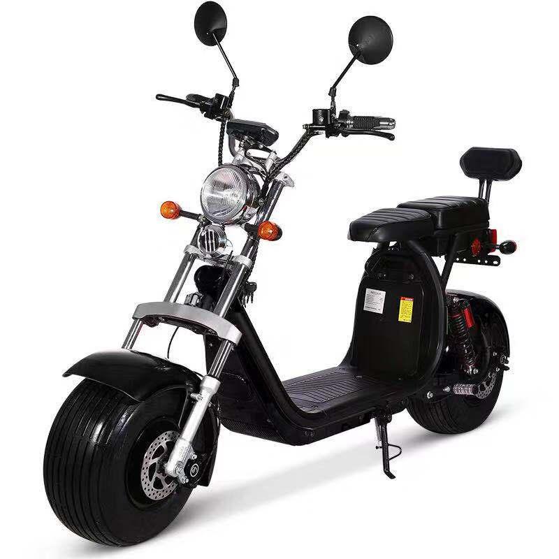 Sc11 + route légale cee/COC 1500w 60v 12ah/20ah/40ah batterie amovible citycoco hors route scooter électrique navire de hollande