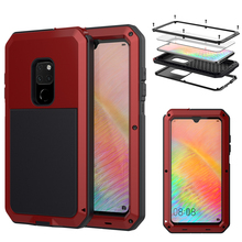 Outdoor Heavy Duty Doom Armor Shockproof Metal Case with  Tempered Glass  For  HUAWEI Mate 20 P30  Dustproof Protection Cover