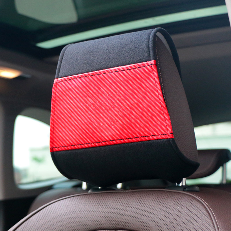 1PCS Carbon Fiber Car Headrest Cover Fit For Mazda Toyota Honda Mitsubishi Hyundai Peugeot Nissan Volkswagen Kia Car Styling