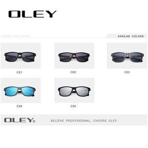 Image 5 - OLEY Neue Aluminium Magnesium Polarisierte Männer Sonnenbrille Erweiterbar hohl bein spezielle anti slip design Anpassbare logo Y7144