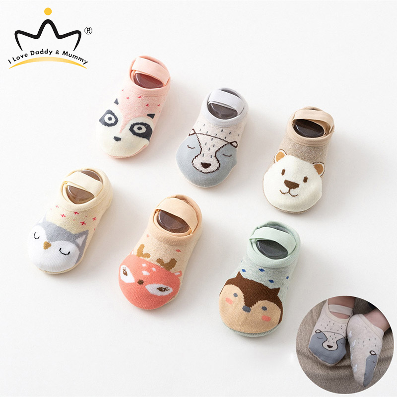 Cute Cartoon Animal Rubber Sole Anti Slip Toddler Baby Shoes Soft Cotton Newborn Baby Boy Girl Floor Socks Crib Shoes