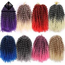 Весеннее солнце 8 дюймов 1 шт. 30 г марли косы Ombre волос Вьющееся кружево синтетические плетеные плетение волос для женщин