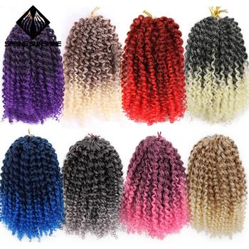 wignee 3 pcs lot spring curl crochet twist braids synthetic hair extensions for women high temperature kinky curly hair bundles Spring sunshine 8inch 1PC 30g Marley Braids Ombre Curl Crochet Braid Synthetic Kinky Braiding Hair Extensions for Women