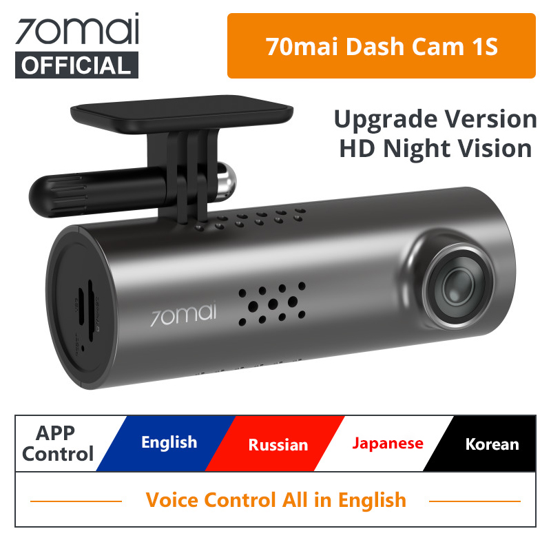 English Voice Control 70mai Smart Dash Cam 1S 1080P Superior Night Vision 70 MAI 1S Car Recorder Wifi Car DVR Video Dashboad