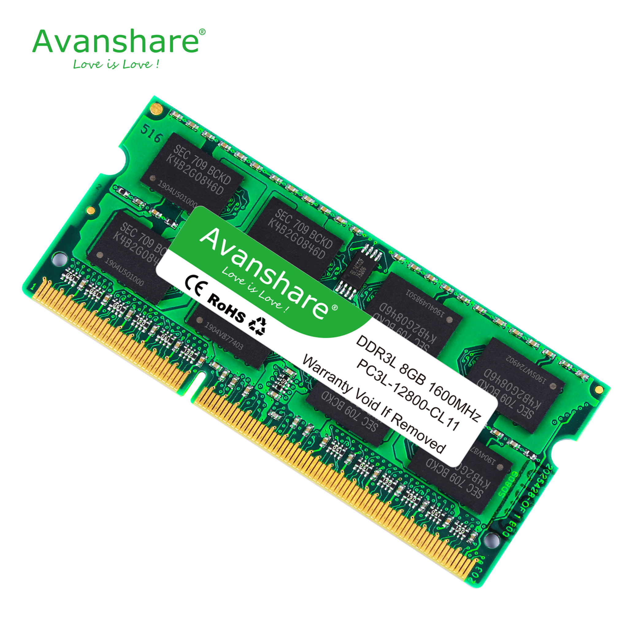 Avanshare ram ddr3 4 gb 8 gb 2 gb 1333 1600 mhz memória do portátil memoria 240pin 1.5 v novo dimm