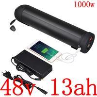 Бесплатная Таможенный налог 48V 13AH литиевый аккумулятор 48v 13ah аккумулятор электрического велосипеда для 48V 500W 750W 1000 W, фара для электровелосип...