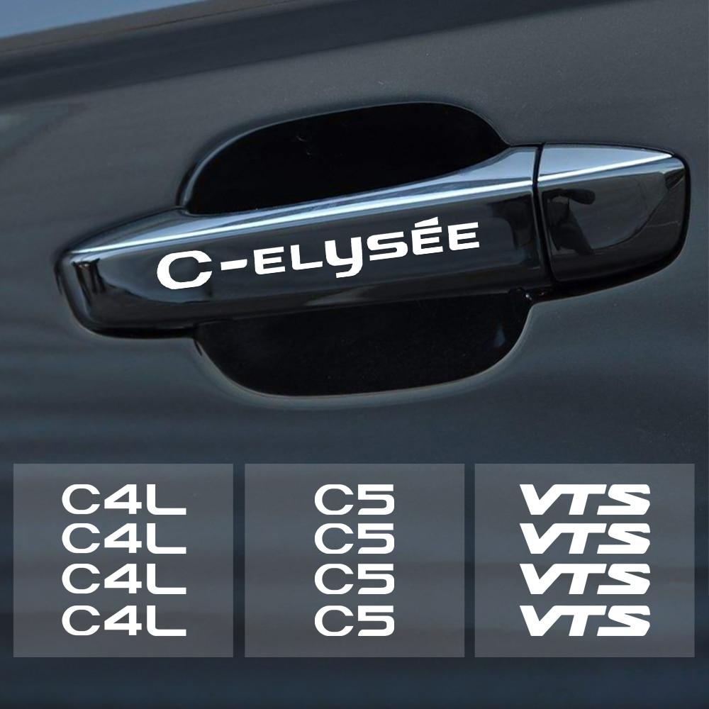 4 шт. декоративные наклейки на дверные ручки автомобиля для Citroen C1 C3 C4 C4L C5 C6 VTS C ELYSEE Авто Стайлинг Зеркало заднего вида светоотражающие наклейки|Наклейки на автомобиль|   | АлиЭкспресс