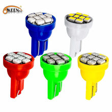 10pcs T10 W5W 194 168 192 1206 3020 8SMD Auto Car Wedge Marker 8 LEDs Clearance Light Tail Side bulb Lamp Styling White blue red(China)
