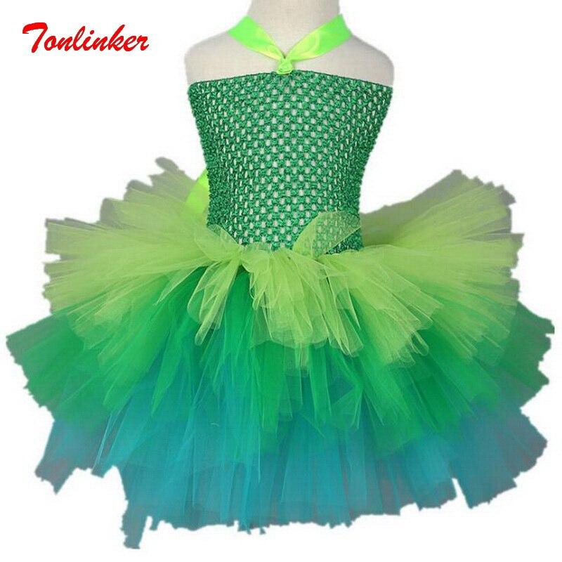Girls Princess Jingle Kids Little Fairy Manual Tulle Tutu Dress Birthday Halloween Party Children Clothing