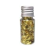 1 бутылка ремесло декоративные хлопья золотой лист домашние торты DIY маска для лица фольга бумага кухня золочение искусство еда ногтей Многофункциональный