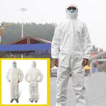 Disposable Protective Clothing Suit White Non-Woven Hazmat Waterproof Coverall