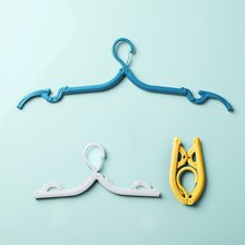Portable Folding Hook Clothes Hanger Plastic Clothes Pegs Hanger Space Saving Closet Cloth Hanger For Travel Laundry Product(China)