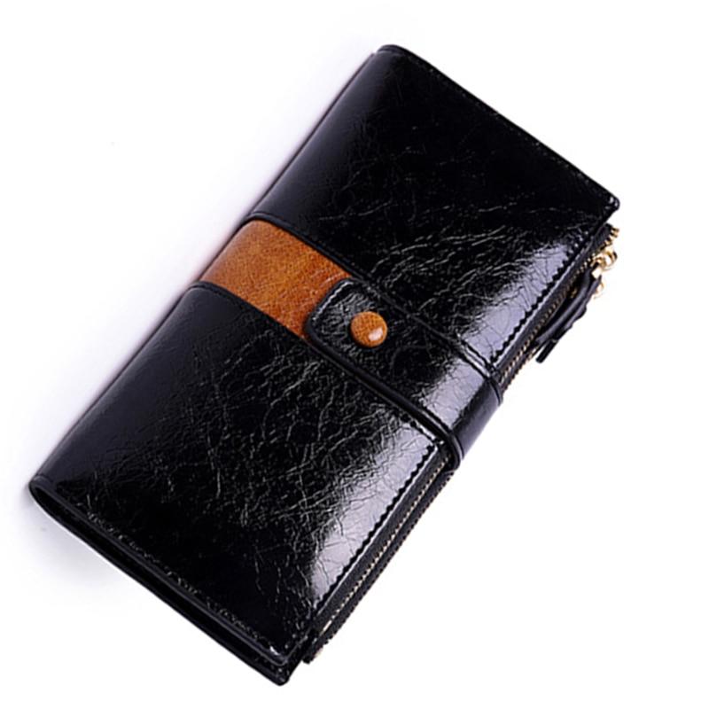 Brand Design Fashion Hot Sale Women Clutch Leather Wallet Female Long Wallet Women Zipper Purse Strap Money Bag Purse For IPhone