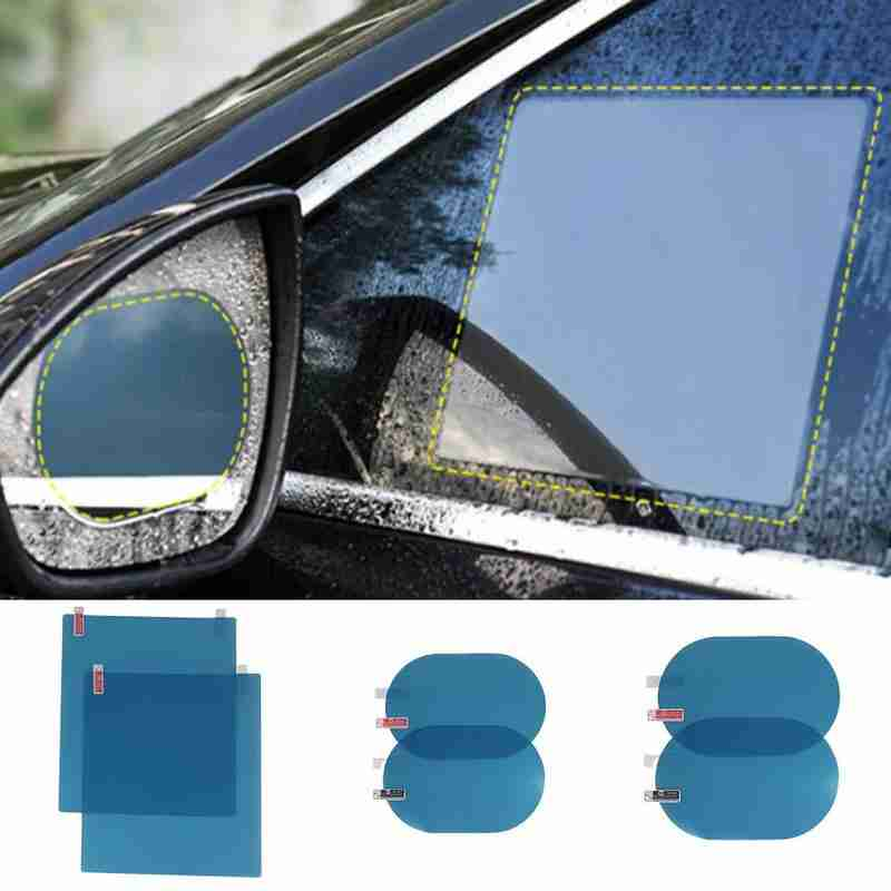 2pcs Car Rearview Mirror Rainproof Film Auto Side Window Anti-fog Waterproof Protective Film Car Rearview Mirror Protective Film