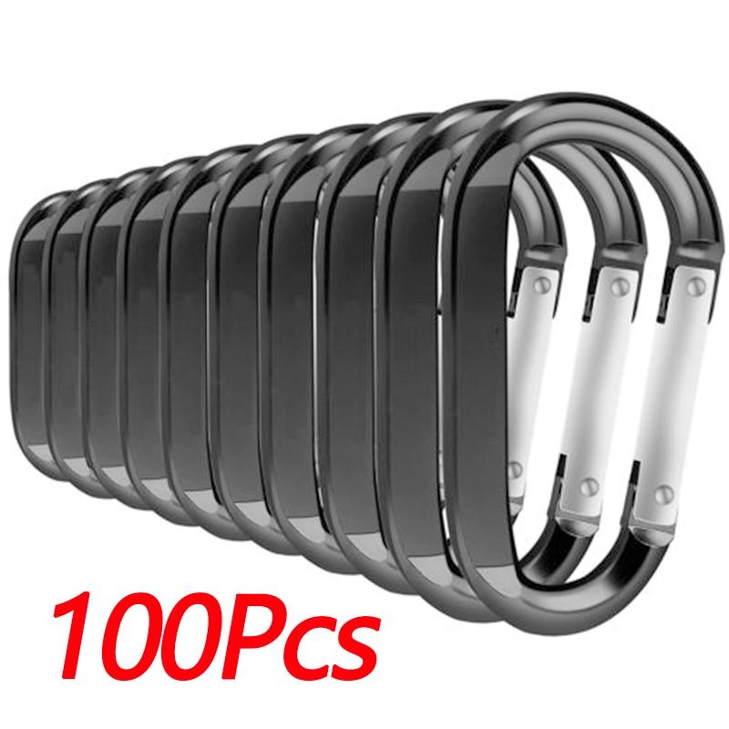 Small Buckles Key Chain Portable Multi purpose Silver//Black Durable High quality