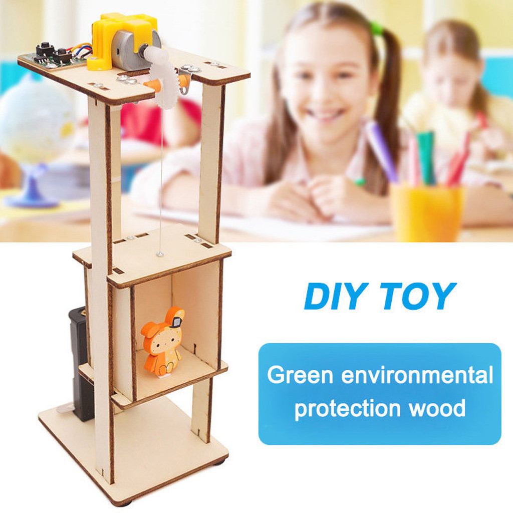 Baby Toys Kids Infant Toddler DIY Assemble Electronic Lift Toys Kids Science Experiment Material Kits Toys Gift Gifts For Baby(China)