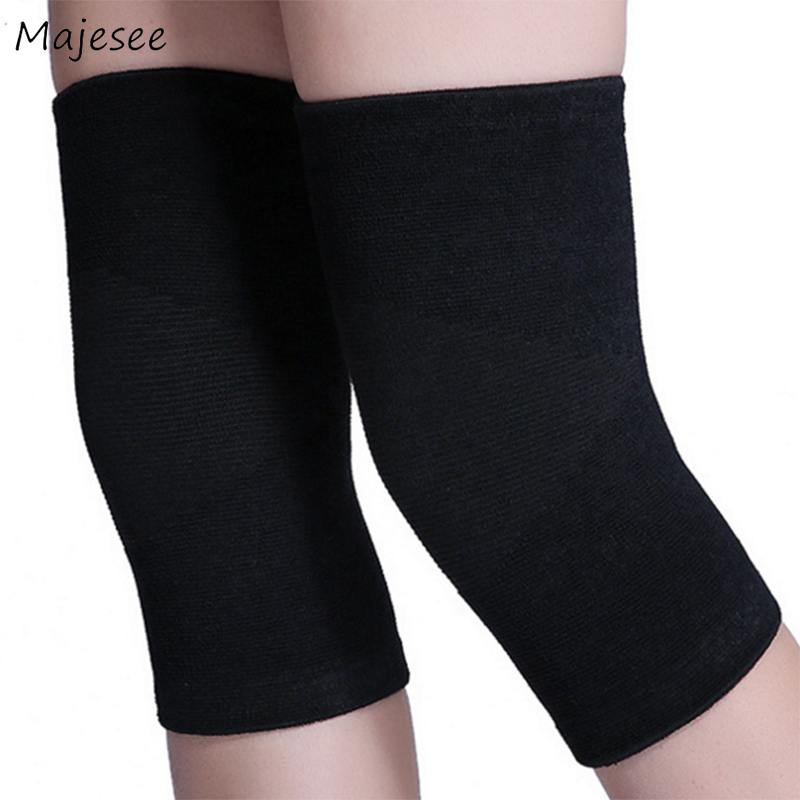 Knee Sleeve Women Summer Solid Elegant Simple Soft Breathable Korean Style Chic Fashion Females High Quality Elasticity Womens
