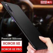 Huawei Honor 9X Pro Case Cover Silicone Matte Tpu Mofi Original Black Back Honor 9X Fundas Protective huawei honor 9x pro Case смартфон huawei honor 8 pro black