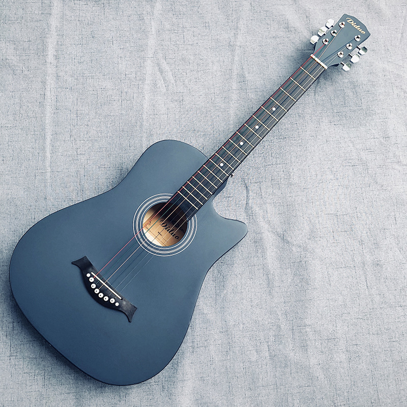 Diduo 38 Inch Acoustic Guitar Basswood Guitarra For Beginner Blue Excellent Musical Instrument Guitar Accessories AGT73