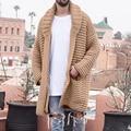 Модный однотонный мужской кардиган, уличная одежда, вязаные свитера с длинным рукавом, повседневный осенний мужской облегающий свитер, пал...