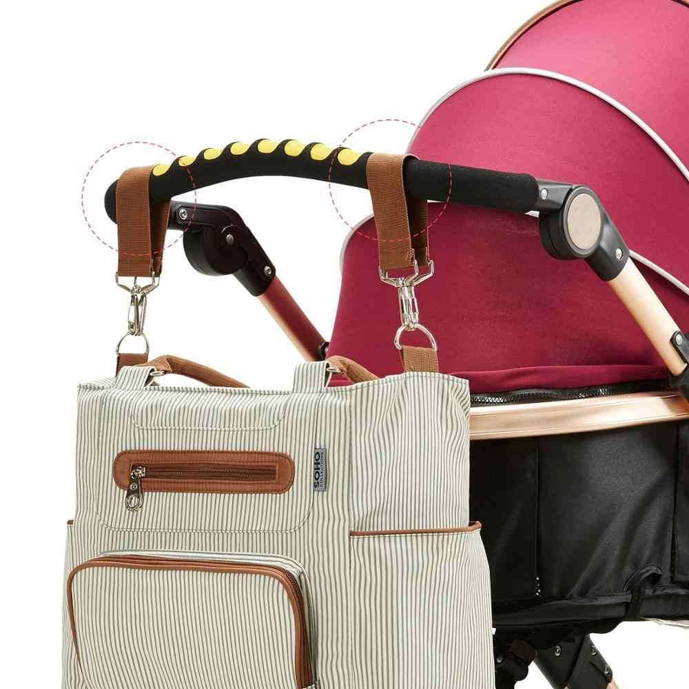 Bolsa de mano impermeable, bolsa de pañales para bebés, bolsas organizadoras para mamás, madre, maternidad, bolsas de bebé para mamá, cochecito de mamá, bolso de maternidad
