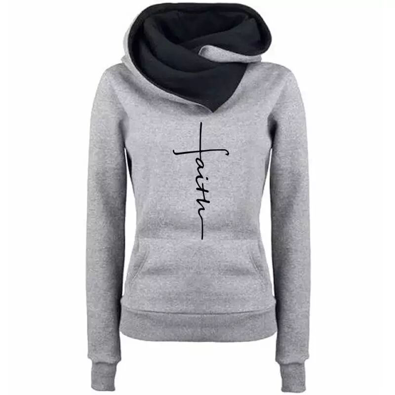 H077077e17fb24ef7991d4931d1f528d6g - Autumn Winter Hoodies Sweatshirts Women Faith Embroidered  Sweatshirts Long Sleeve Pullovers Christmas Casual Warm Hooded Tops