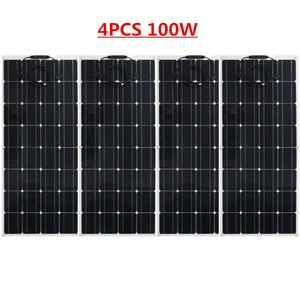 Image 3 - الصين أحادية الخلايا الشمسية عالية الكفاءة 100 واط سعر المصنع تصاعد ألواح الطاقة الشمسية المصنوعة من خلية فولطا ضوئية للبيع 12 فولت شاحن بالطاقة الشمسية 200 واط 300 واط 400 واط