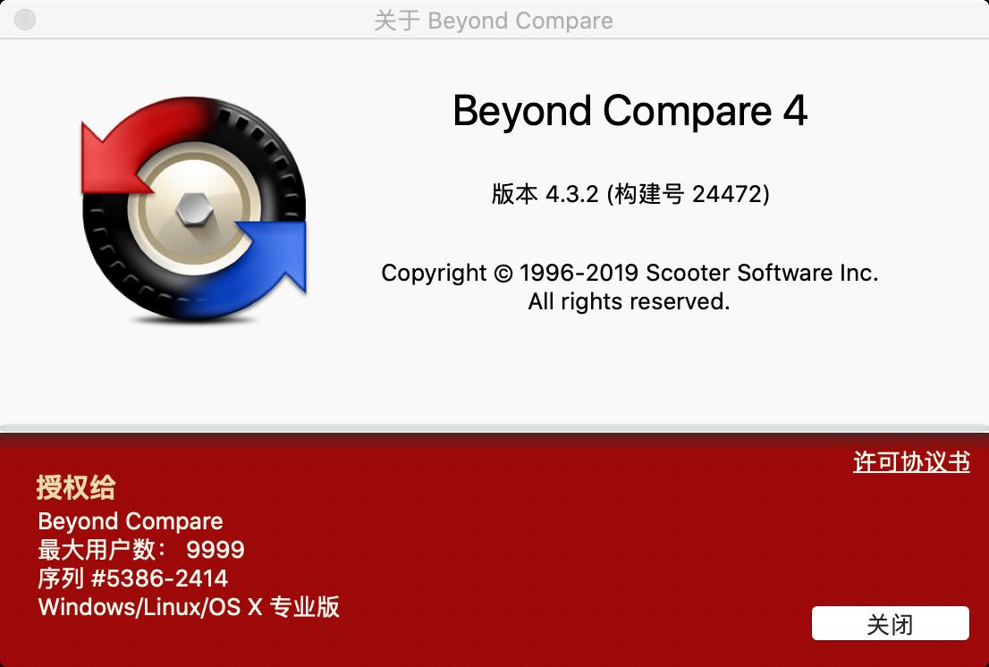 macOS 版最新 Beyond Compare 中文破解版分享的图片-高老四博客