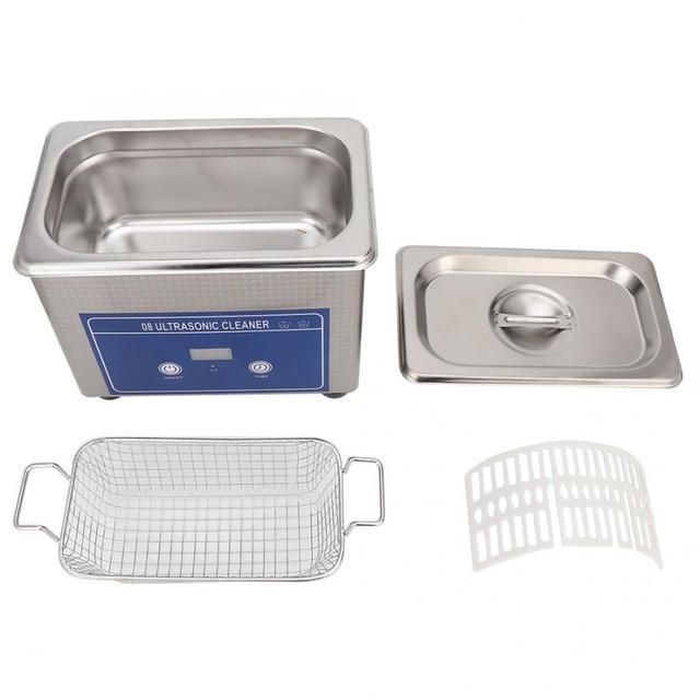 800ml Ultrasonic Cleaner Household Cleaning Machine for Watch Jewelry Glasses False Teeth Ultra Sonic Cleaner Bath Tank