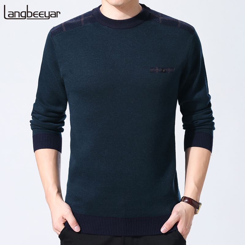 2019 New Fashion Brand Sweaters Men Pullover Top Grade Slim Fit Jumpers Knitred Wool Warm Autumn Korean Style Casual Men Clothes